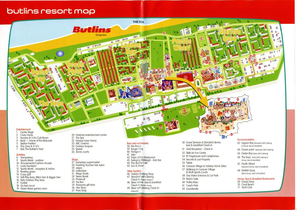 Butlins Skegness Map Butlins Skegness Map from 2005